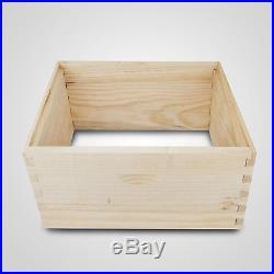 10 frame Beehive 2 Deep Brood Boxes, 3 Medium Honey Supers Free shipping