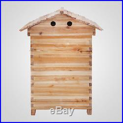 1PC Beekeeping Wooden House +7PCS Hive Flow Auto Honey Beehive Frames H Quality