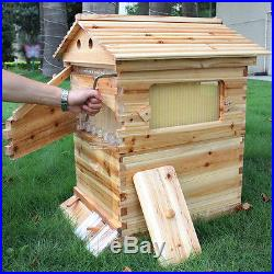 1Pcs BeeHive House Wooden Brood Box + 7Pcs Bee Hive Frames For Beekeeping Sets