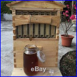 2017 7Pcs Auto Flow Hive Frames +1PC Wooden Brood Box Durable Beekeeping Tool