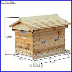 2x Bee Auto Move Honey Gather Frames + Wooden Beehive For Beekeeping Harvesting