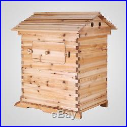 7PCS Auto-Flowing Honey Hive Beehive Frames + 1 PC Beekeeping Wooden House Sale