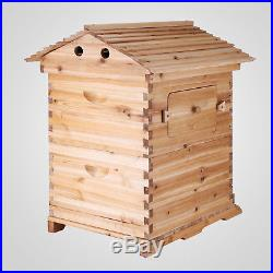 7PCS Auto Honey Flowing Beehive Hive Frames+1PC Beekeeping Wooden Bee Hive House