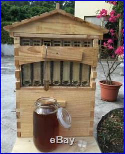 7PCS Upgraded Beekeeping Tool Hive Frames + Beehive Wooden Brood Box M