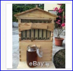 7PCS Upgraded Beekeeping Tool Hive Frames + Beehive Wooden Brood Box d