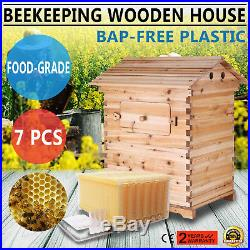 Assembled Auto-Flow Beehive with 7 PCS High Efficiency Auto Flow Frames