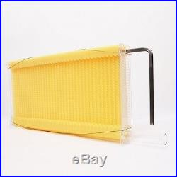 Auto Flow Frame Honey Super Box + 7 Combs for 10-Frame Langstroth Beehive