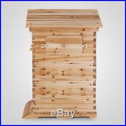 Bee Hive 3 Layers For 7 Auto Flow Honey Frames Wooden Beehive Beekeeper Safe