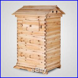 Bee Hive 3 Layers For 7 Auto Flow Honey Frames Wooden Beehive Honey House Safe