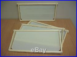 Bee Hive Frames for Deep Super or Brood Box Assembled with Foundations