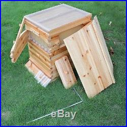 Beekeeping Automatic Full Bee Wooden Brood kit /7 PCS Flow Frame Honey Flow Hive