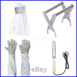 Beekeeping Smock +Gloves+Hot Knife Honey Extractor+Bee Hive Frame Holder Lifter