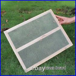 Fir Wood Super Box With 7pcs Flow Food Grade Frames For Beekeeping Beehive