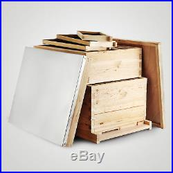 Honey Keeper Beehive 20 Frame Complete Box Kit 10 Deep and 10 Medium with Metal