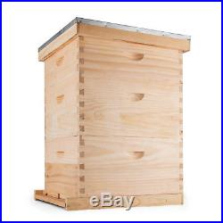 Langstroth Bee Hive 10 Frame 2 Deep 1 Medium Box Durable Convenient Complete Kit