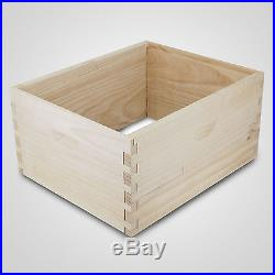 Langstroth Bee Hive 10 Frame 2Deep 3 Medium Box No Frames and Foundations