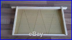 National bee hive brood frames & foundation DN5 fully assembled set