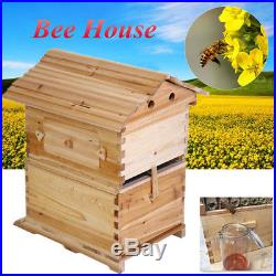New Wooden Beekeeping Beehive Brood House Box For 7x Auto Flow Honey Hive Frames