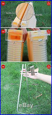 Newest Style Upgraded 7 PCS Hive Beehive Auto Flow Honey Frames +BEE Brood HOUSE