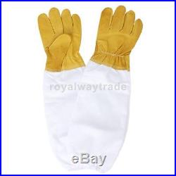Smock Suit + 2pairs Gloves + Bee Hive Frame Holder Grabber Protect for Beekeeper