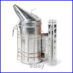 Stainless Steel Bee Hive Smoker + Bee Hive Frame Holder Lifter Grip + hive tool