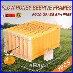 Upgraded Beehive Brood Box + 7pcs Auto Flowing Honey Hive Frames Beekeeping