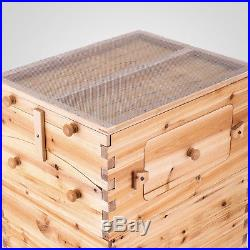 Vevor Simple Beehive 7 X Auto-flow Frames Honey Bee Natural Wood Factory Price