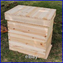 Wooden Bee Hive Super Brood Box Beekeeping House For 6 Flow Hive Frames (Empty)