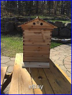 Wooden Beehive Brood Box + 7 Flow Hive Frames to Harvest Raw Organic Honey