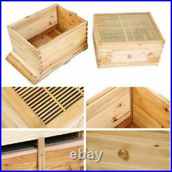 Wooden Beehive House Box Comb 7 PCS Frame Upgraded Auto Honey Bee Comb Hives