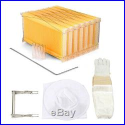 Wooden Beekeeping Beehive House / 7PCS Upgraded Auto Run Bee Comb Hive Frames AU